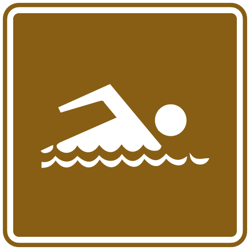 US Road Signs Swimming tourist